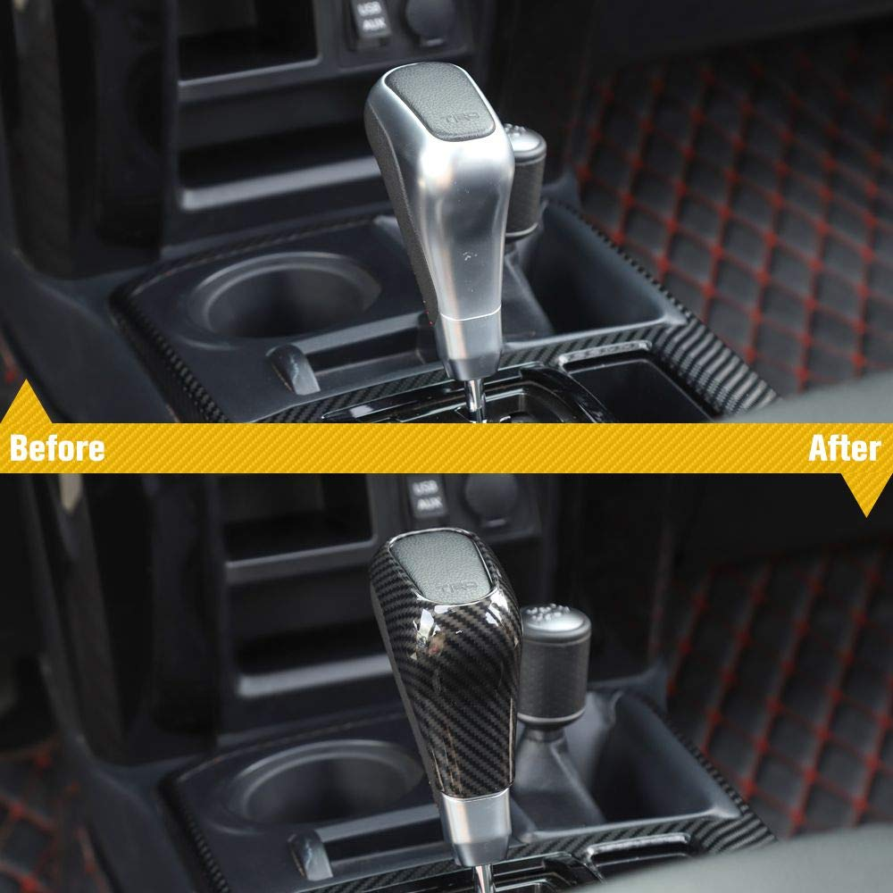 Voodonala for 4runner Window Lift Switch Decoration Trim fit Toyota 4runner SUV 2010-2019 NOT Fit Right Hand Drive Carbon Fiber Grain