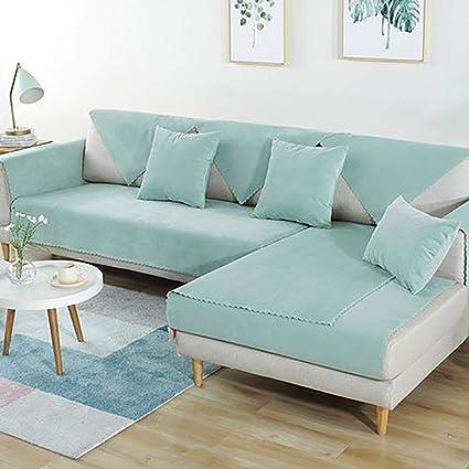 L&VE Impermeable Mascota Perro Fundas de sofá, Color sólido Resistentes a Las Manchas Sofá Funda Cubre sofá Muebles Clip de Dinero -Vender por ...