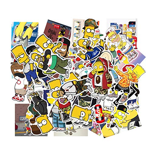 (The Simpsons Family Cartoon Waterproof Reused Stickers Car Laptop Helmet Luggage Vintage Skateboard Wall Decor Gift for Kids)