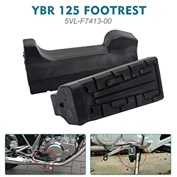TOOGOO 2x Black Front Foot Rest Peg Rubbers Footrest For Yamaha YBR 125 All Year R