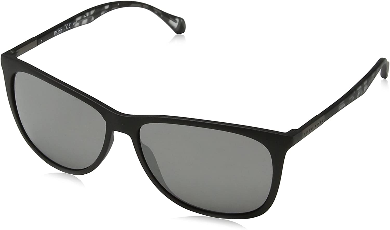 BOSS Hugo 0823/S T4 YV4 Gafas de sol, Negro (Black Greyhvn/Black Fl), 58 Unisex-Adulto