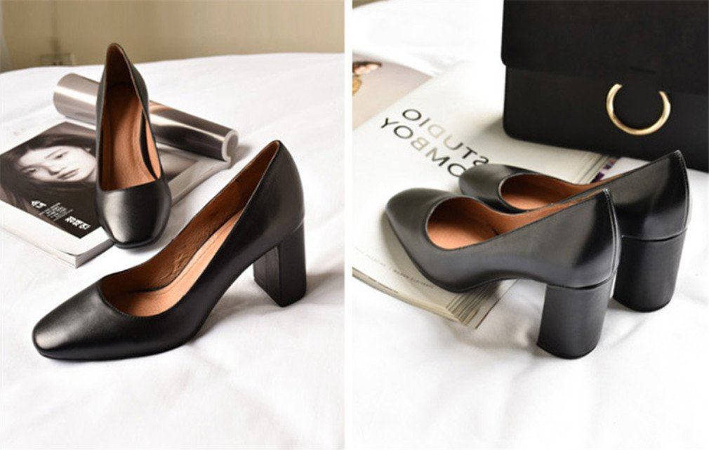 LUCKY CLOVER-CC High Heels,Sandals Women Bride Pumps Wedding Court Shoes Dress Dating Office Party Blink Pointed Shoes,Black,EU36