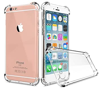 new concept fb0f8 eaecd Plus Soft Shockproof Hybrid Protection Back Cover for Apple iPhone 6  Plus/6s Plus(Transparent)