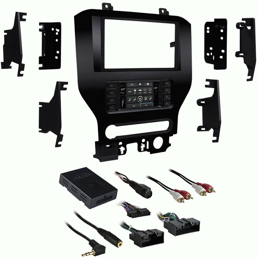 Metra 99-5840CH Single/Double DIN Dash Kit for Select 2015-Up Ford Mustang Vehicles by Lessco Electronics (Image #1)
