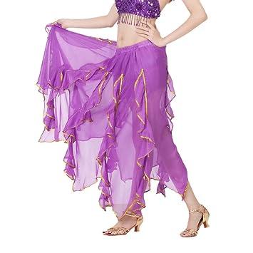 DANCER Falda Elegante de Hadas de Chifón Falda para Danza del ...