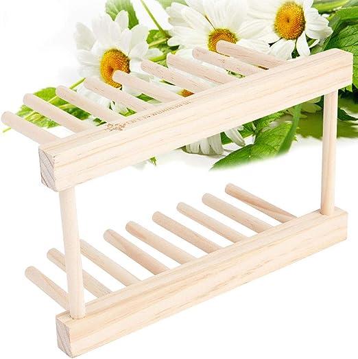 Escurreplatos de madera vertical soporte de escurridor de platos ...