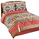 Collections Etc Jaron Southwest Aztec Native American Pattern Medium-Weight Comforter Bed Set With Sham(s) and Bedskirt, Queen