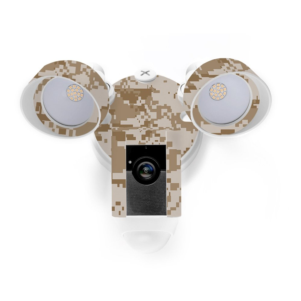 MightySkins Skin for Ring Floodlight Cam - Desert Camo Protective, Durable, and Unique Vinyl Decal wrap Cover | Easy to Apply, Remove, and Change Styles | Made in The USA