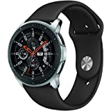 Sport Band Compatible Samsung Galaxy Watch 46mm, Kmasic Soft Silicone Strap Replacement Wristband Compatible Samsung Galaxy Watch SM-R800NZSAXAR Smart Fitness Watch