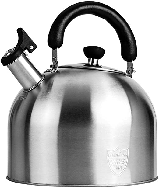 Stainless Steel Whistling Tea Kettle Pot Home Kitchen Camping Coffee Tea Pot