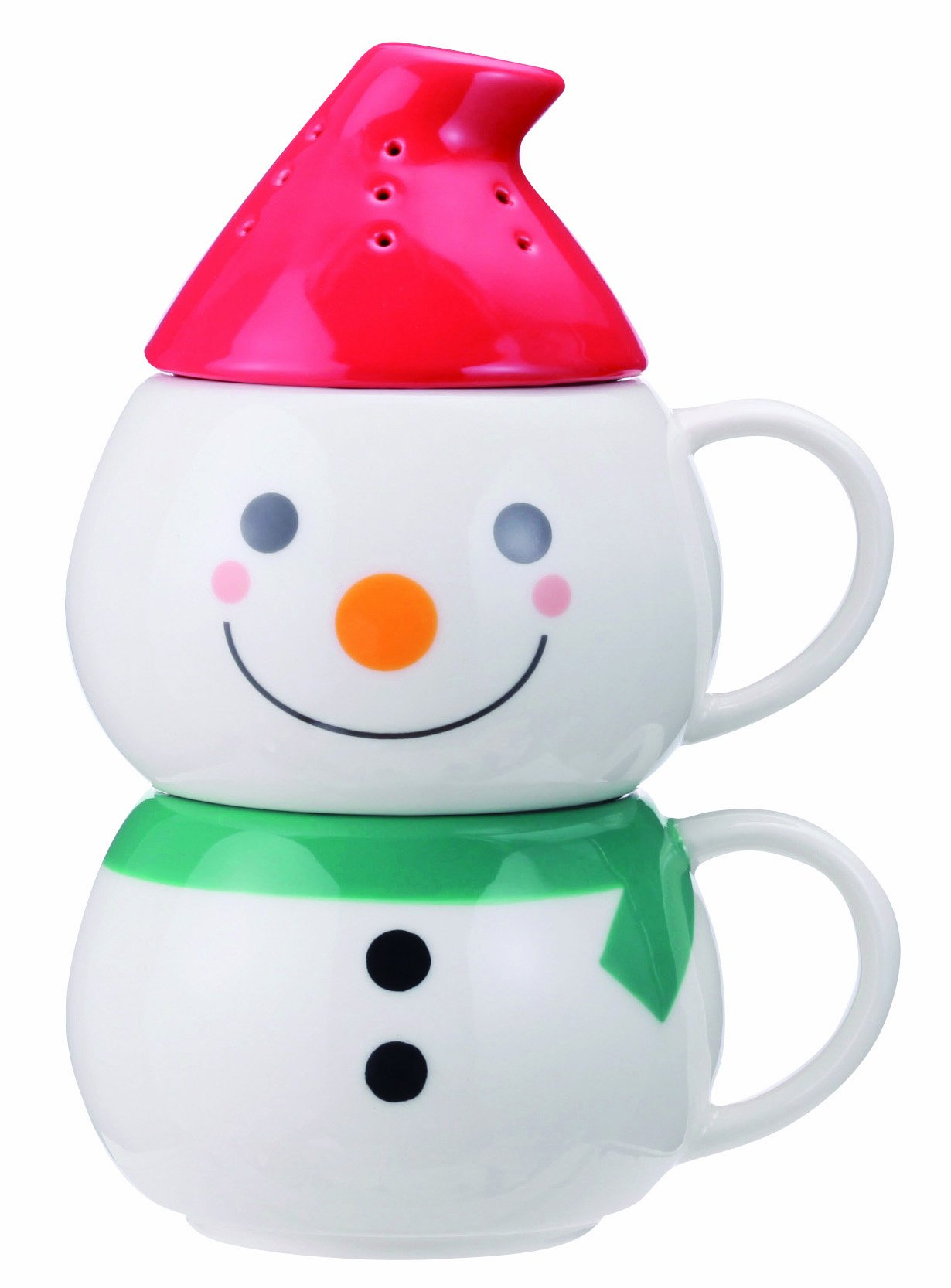 Peamagu tea strainer hat with snowman SAN1932 (japan import)