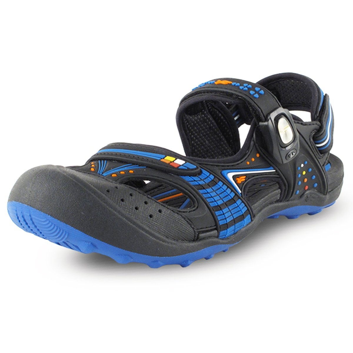 Gold Pigeon Shoes GP5937 Snap Lock Sandal: 7668 Black Blue, EU39