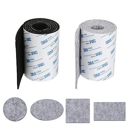 KINDPMA 2 Rollo Cinta Fieltro Adhesivo Antideslizante Almohadillas Fieltro Adhesivo Muebles para Protección Muebles Florero Madera