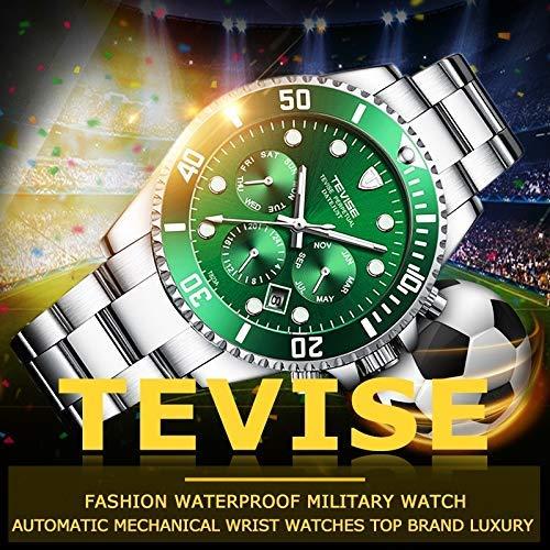 Luxury Watch Brands Mens Automatic Watch Date Stainless Steel Band Waterproof Men Self-Wind Wrist Watch