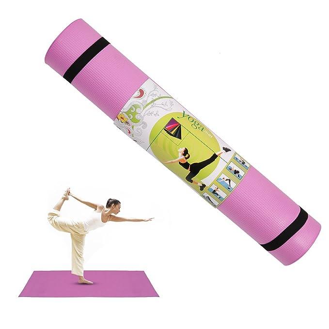 FEESHOW Esterilla para fitness 4mm EVA Estera de la Yoga ...