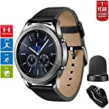 Beach Camera Samsung Gear S3 Classic Bluetooth Watch with Built-in GPS Silver (SM-R770NZSAXAR) with Wireless Charger Bundle + 1 Year Extended Warranty