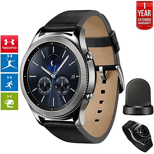 Beach Camera Samsung Gear S3 Classic Bluetooth Watch with Built-in GPS Silver (SM-R770NZSAXAR) with Wireless Charger Bundle + 1 Year Extended Warranty by Beach Camera