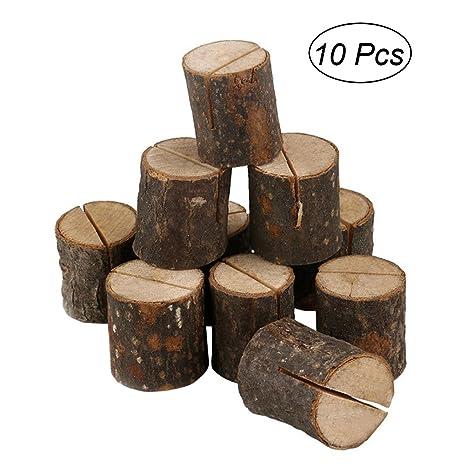 ULTNICE madera base clip para cartas Pizarra Nota para ...