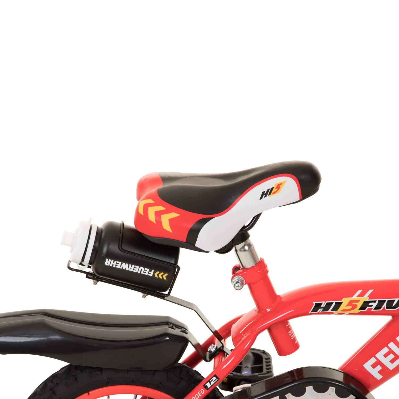 """Stützräder Kinderfahrrad 12/"""" 16/"""" Kinder Fahrrad Hi5 schwarz weiß"""