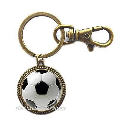 Llavero de fútbol, llavero deportivo, joyería de fútbol ...