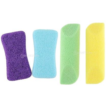 IPOTCH 4pcs Piedra Exfoliante Suave con Espuma para Pies Profesional para Cuidado de 4 Colores