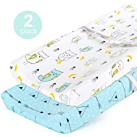 Stretchy Fitted Crib Sheets Set-Brolex 2 Pack Portable Crib Mattress Topper for Baby Girls Boys,Ultra Soft Jersey,Full Standard,Balloon