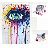 iPad Mini Case, Angelan® iPad Mini1/2/3 series All Models Slim-Fit Stand Folio Smart Case Cover, Cards money Pocket for iPad Mini 1 / 2 / 3 (7.9 inch) (eyes)