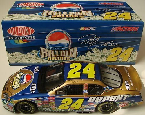 2003 Jeff Gordon #24 Dupont Pepsi Billion Dollar Challenge 1/24 Scale Monte Carlo Action Racing Collectables ARC Hood Opens, Trunk Opens HOTO Limited Production ()