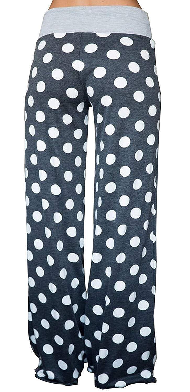 SEASUM Womens Comfy Casual Pajama Pants Lounge Yoga Pants Women Wide Leg Palazzo Pant