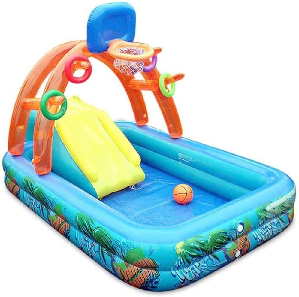 gxffc Kids Water Slide,Inflatable Water Slide Multi-Function Childrens Pool for Kids Kids Backyard Waterpark for Summer Fun Inflatable Paddling Pool
