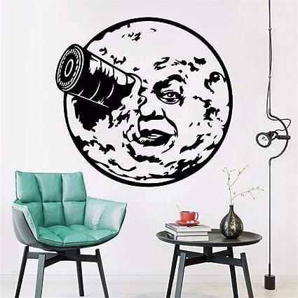 Amazoncom Wadyx Art Decal Trip To The Moon Wall Sticker