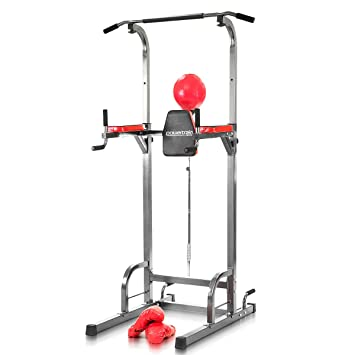 af2741ed3f5 Powertrain Tower Pull Chin Up Station Home Gym with Punching Speed ...