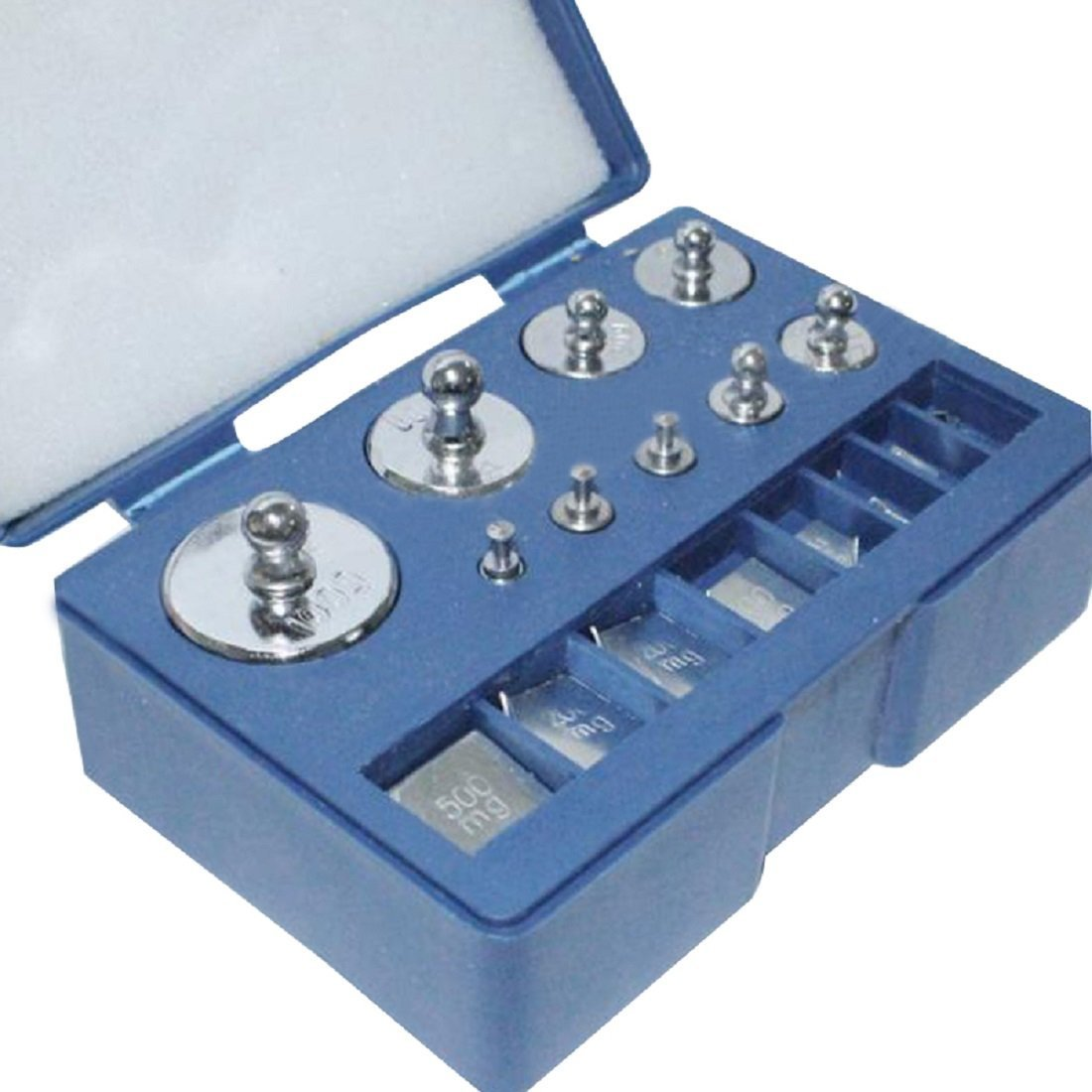 Chiloskit 10mg-100g Precision Chrome Calibration Weight Kit Set for Scale /& Balance Jewellery Scale
