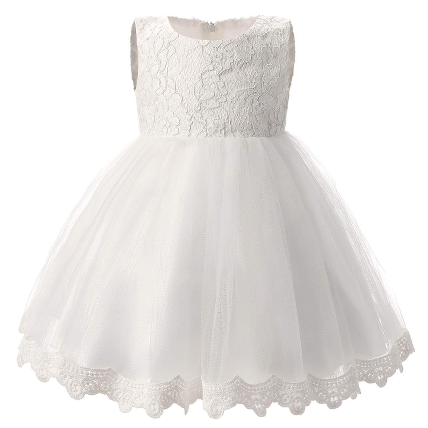 0fbdee34eb5a Amazon.com: Winter Baby Girl Christening Gown Infant Princess Dress 1st Birthday  Outfits Children Kids Party Wear Dress Girl Formal Vestido,G4B,Uncle: ...