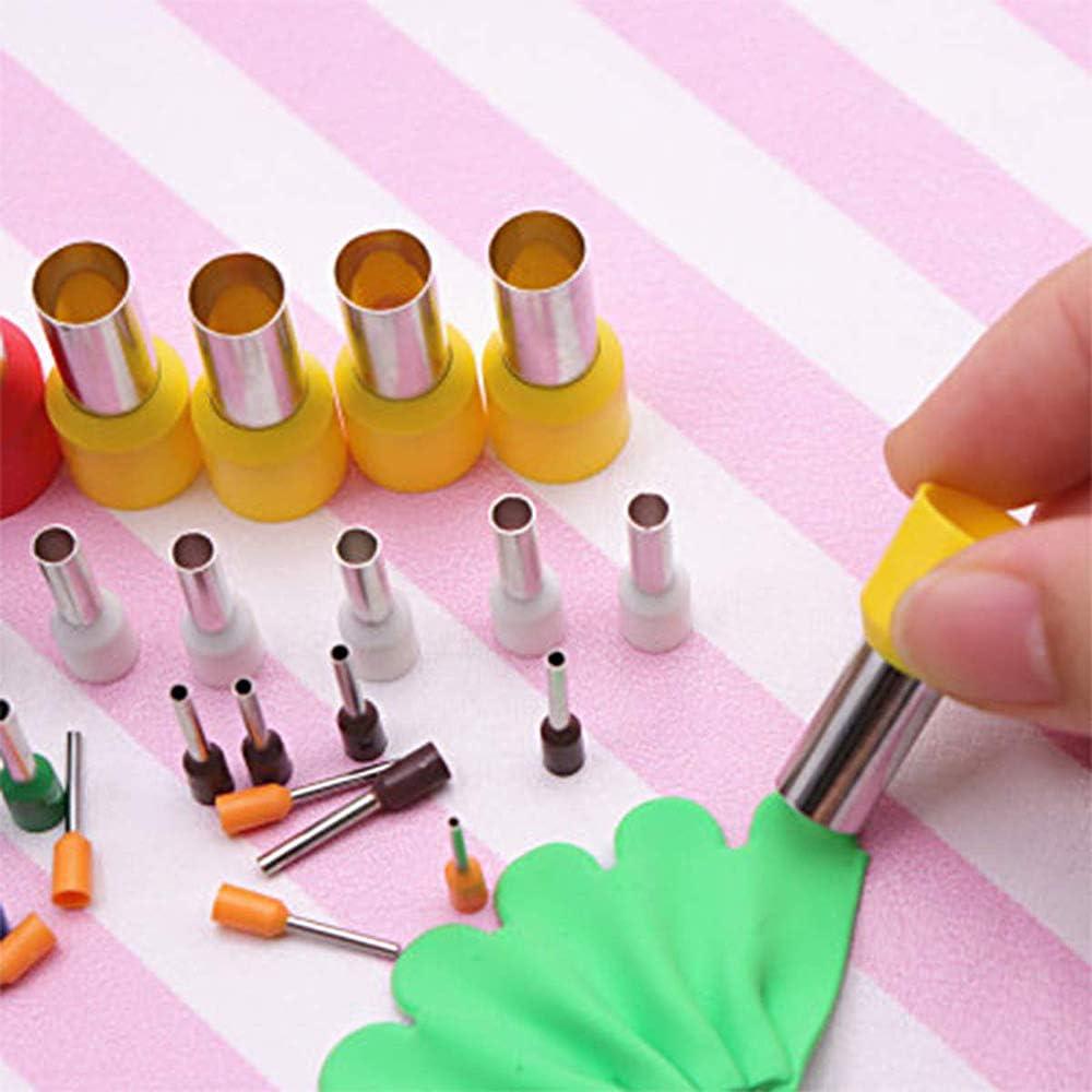Healifty 40pcs cortadores de arcilla set mini cortadores redondos de acero inoxidable para manualidades artesanales de cer/ámica de arcilla de pol/ímero diy