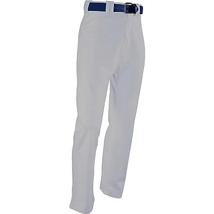 New Martin Baseball Softball Grey Belt Loop Pants w Black Piping Youth XS-XL