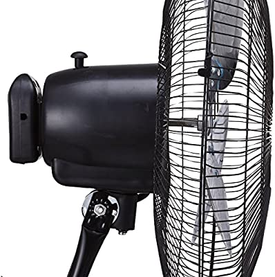 Brentwood Appliances F1831B 18 Inch 3-in-1 High Velocity Stand Fan