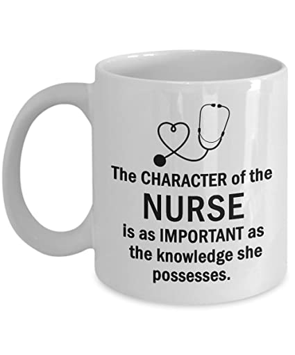 the character of the nurse is important funny birthday christmas present for nurses or
