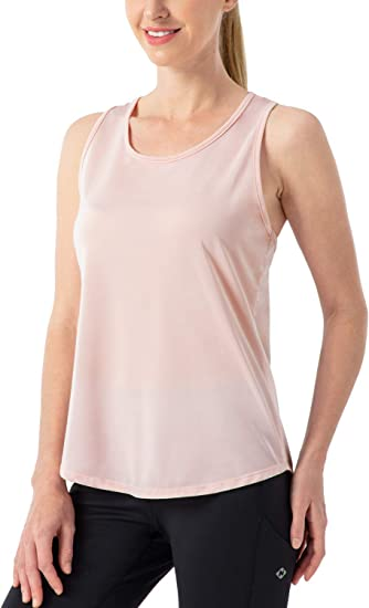 CRZ YOGA Femme D/ébardeur Fitness Running T-Shirt Dos Nageur Ouvert avec Maille