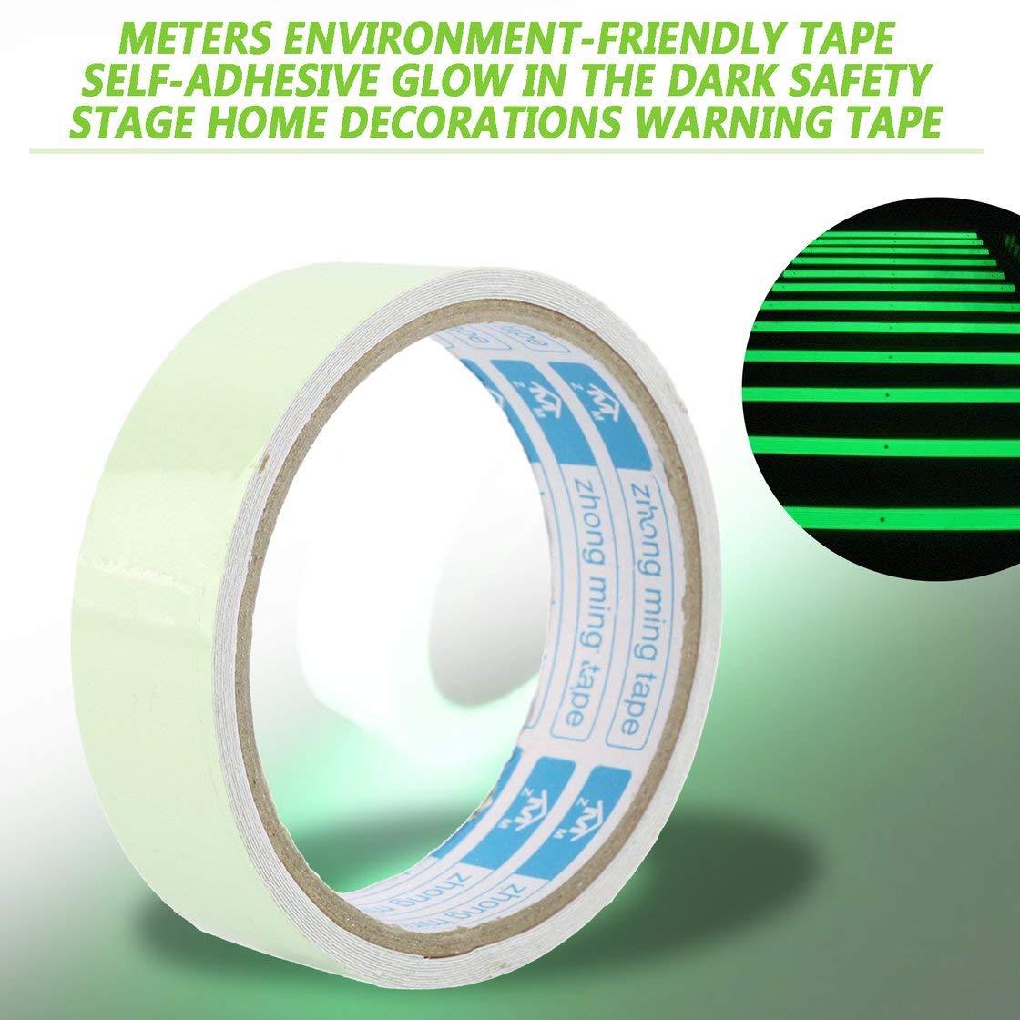 Jessicadaphne Adhesivo de cinta luminosa para suministros de fiesta de luz negra cinta autoadhesiva que respeta el medio ambiente en la oscuridad decoraciones para el hogar