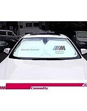 Parasol para parabrisas de coche S-WEKA M Line, bloquea los rayos UV, protector de visera plegable, parasol para mantener tu vehículo fresco y libre de daños, para BMW