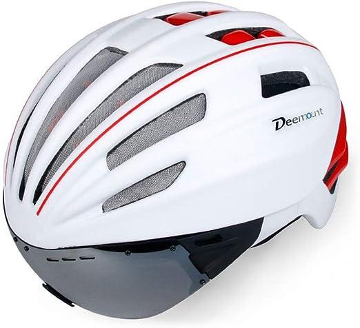 Licyen-bick Casco Bicicleta con Visera Casco de Bicicleta Gafas ...