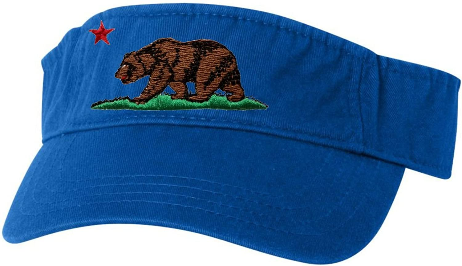 Go All Out Adult California Republic Bear Embroidered Visor Dad Hat