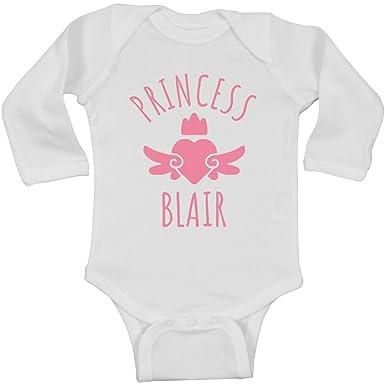 73a54e168c1 Amazon.com  Cute Princess Blair Heart Onesie  Infant Long Sleeve ...