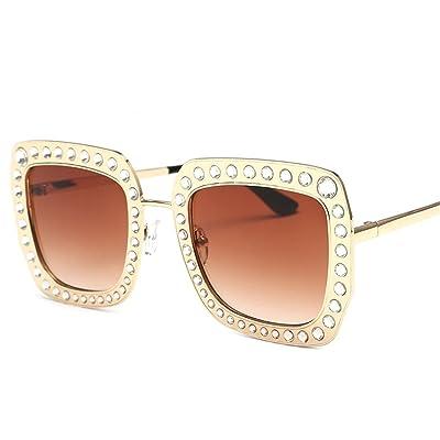 HONG@Les lunettes de soleil Lunettes de boîte de forets carrés, B