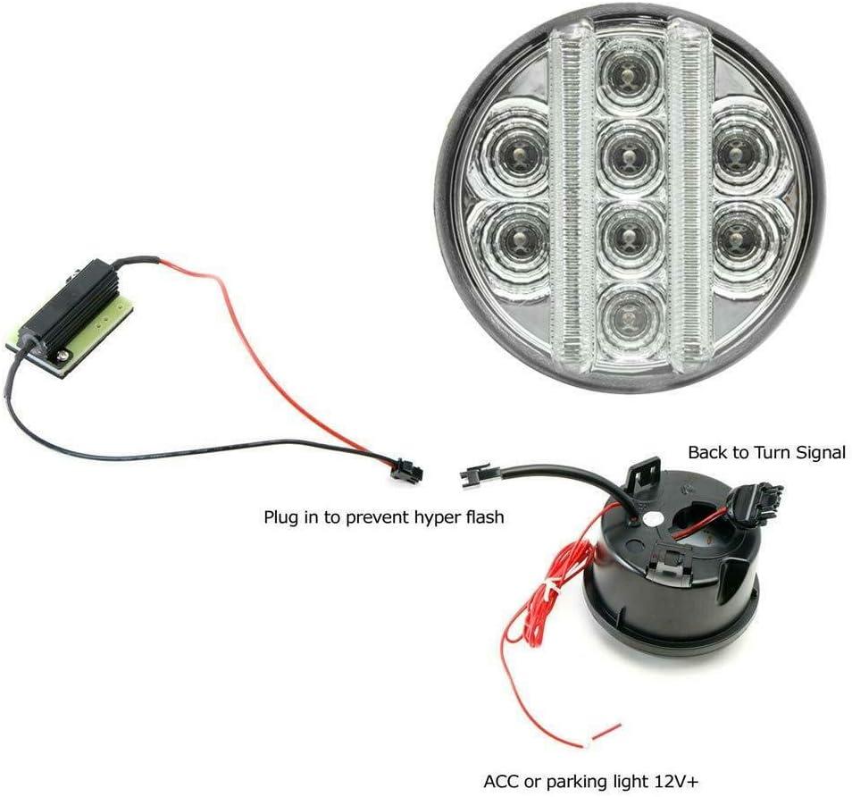 NSLUMO Lot de 2 feux clignotants avant LED pour garde-boue J`eep Wrangler JK