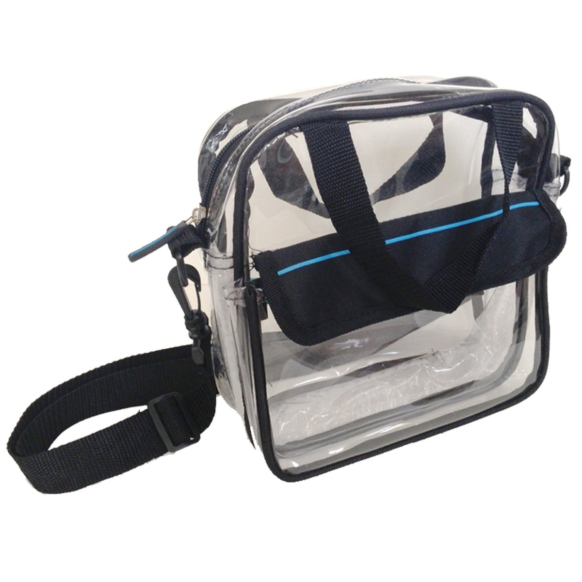 Clear Cross Body Shoulder Square Messenger Bag Security Compliant