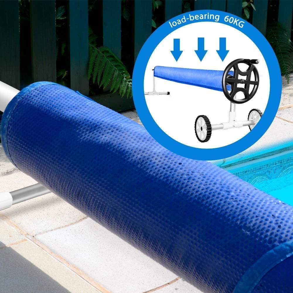 Enrollador para piscina MASTERTOP 138 in extensible, acero inoxidable y aluminio 236 in