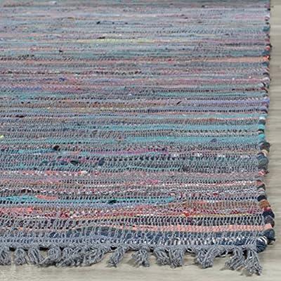 Safavieh Rag Rug Collection RAR121A Hand Woven Grey Cotton Area Rug (5' x 8')