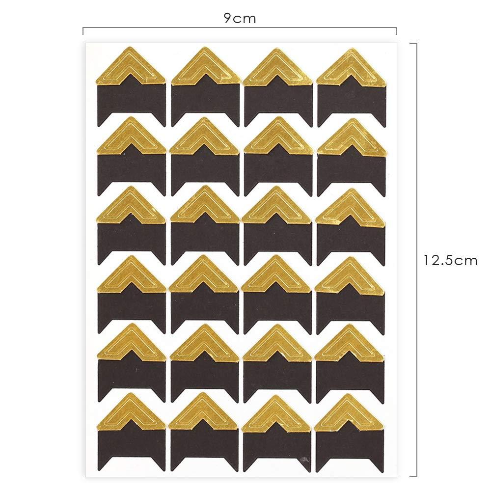 16 Fogli Adesivi per Il Montaggio di Foto Adesivi in Carta Fai-da-Te Adesivi angolari per Album fotografici Decorazione per cornici Scrapbooking GLOBALDREAM Angoli per Foto